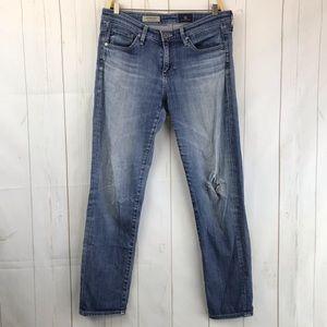 Adriano Goldschmied Blue The Stevie Ankle Jeans 27